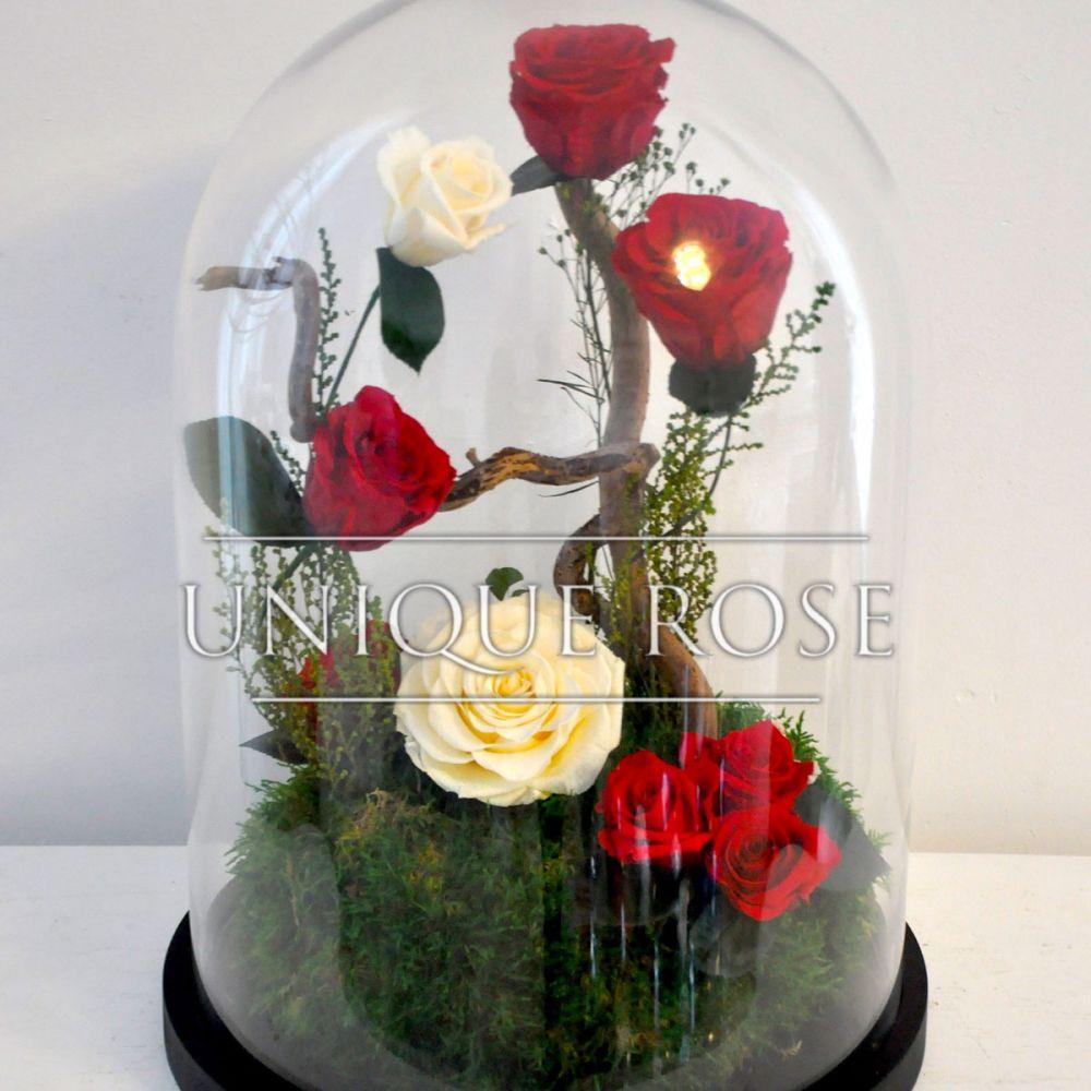 Композиции из роз в колбе купить в Москве