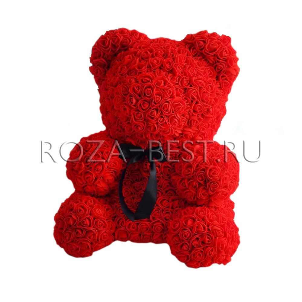 Мишки из 3d роз купить в Москве